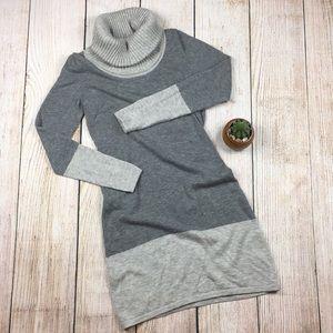 [Athleta] Wool Cowl Neck Gray Dress Size Small